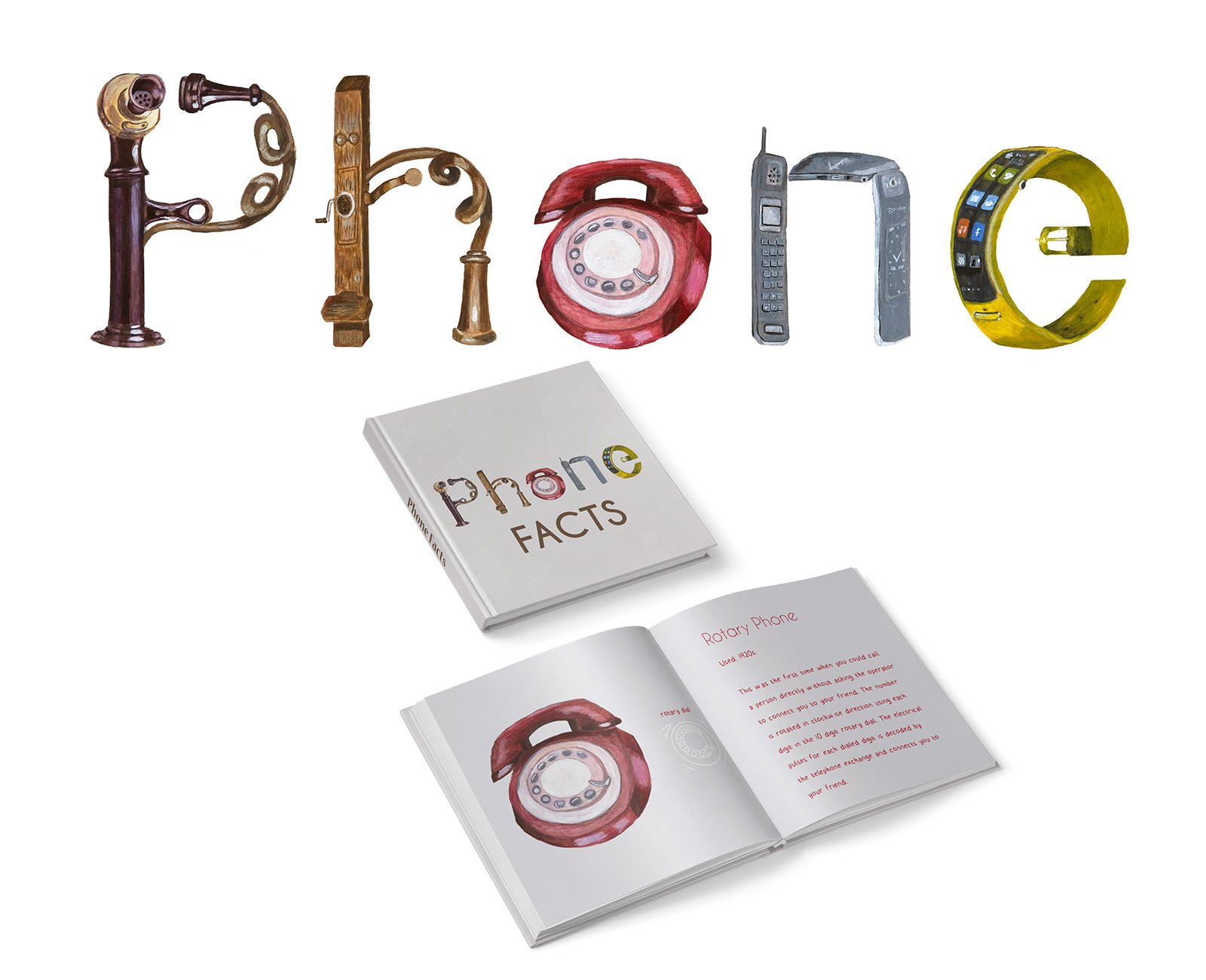 Phone - Word Play Illustration