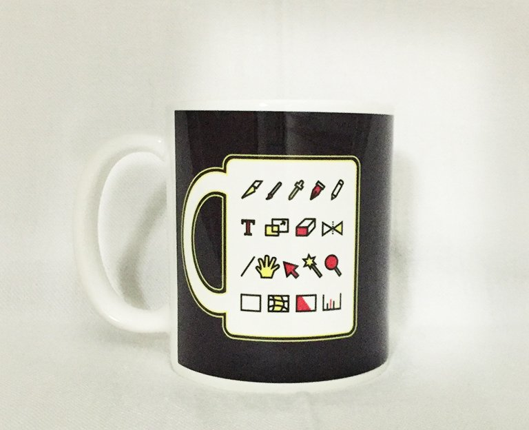 Thank You Mug with Graphic Design Icons